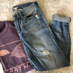 J. Crew Factory Distress Skinny Jeans - 27